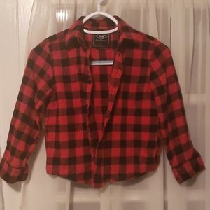 Other - Red Flannel Boys Button Down Shirt